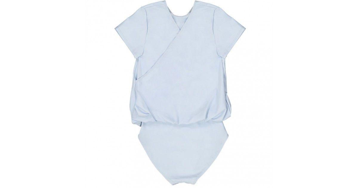 Ash blue girl sun protective swimwear by Canopea