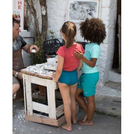 Maillot de bain anti UV couleur vert Bari pour fille