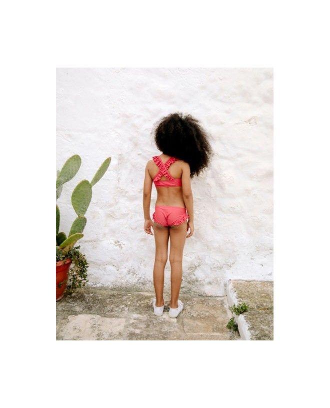 Maillot de bain anti UV couleur rouge Grenada pour fille