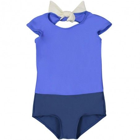 Bi-color Blueberry sun protective swimwear for girls by Canopea