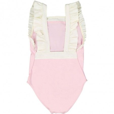 Dragee pink girl and baby sun protective swimwear by Canopea