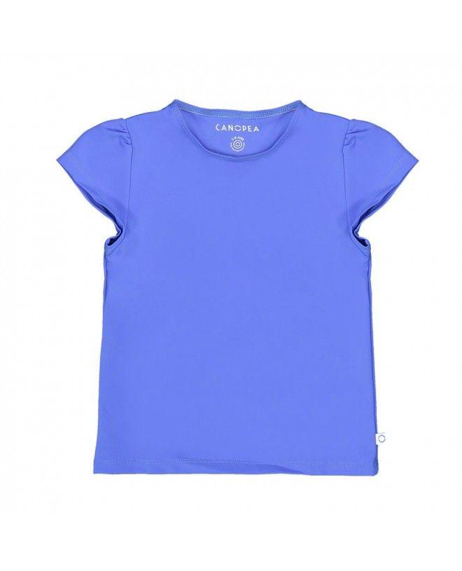 T-shirt anti UV Canopea bleu Indigo pour fille et bébé