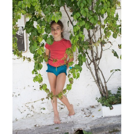 T-shirt anti UV Canopea rouge Grenada pour fille et bébé
