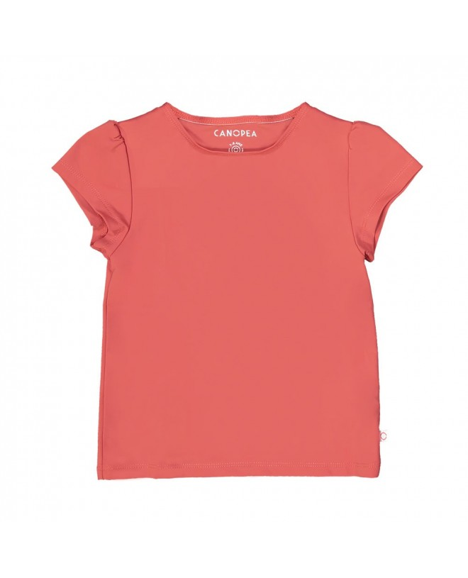 Grenada red sun protective rashguard for girl and baby