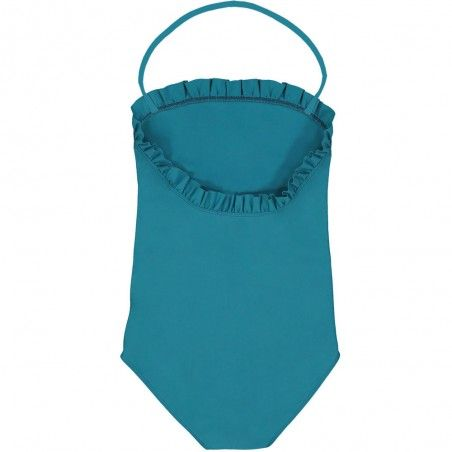 Bari green girl sun protective swimwear by Canopea