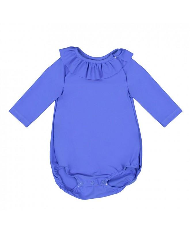 Maillot de bain anti-UV bébé manches longues couleur bleu Indigo de Canopea
