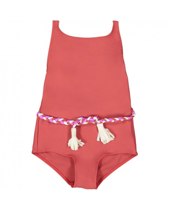 Grenada red sun protective girl swimwear by Canopea