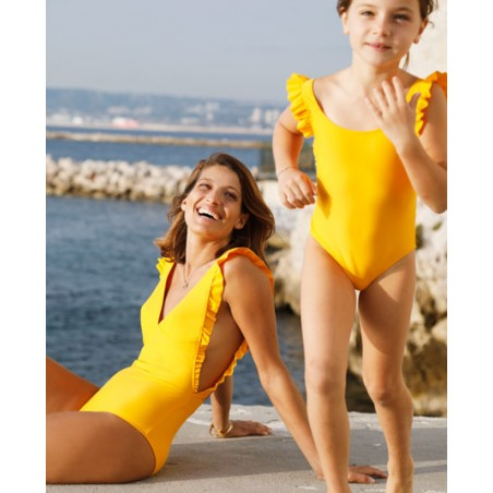 Sun protective swimsuit for women girl children by Canopea x Smallable