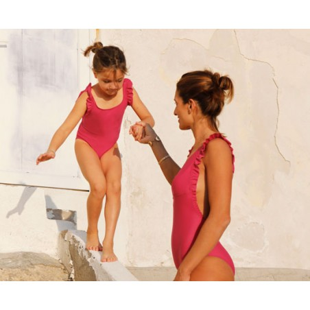 Maillot anti-UV femme enfant fille Canopea x Smallable