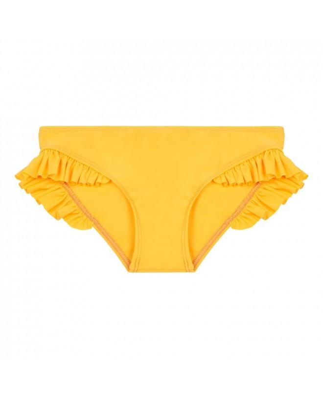 Culotte de maillot de bain anti UV couleur jaune Sunflower pour fille