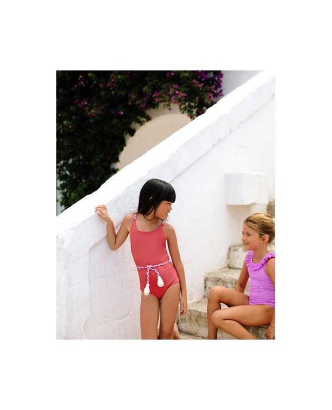 Maillot de bain une piece anti-uv rouge Grenada pour fille de Canopea