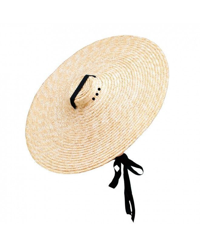 Natural straw hat by Canopea x Goodbye Lorette