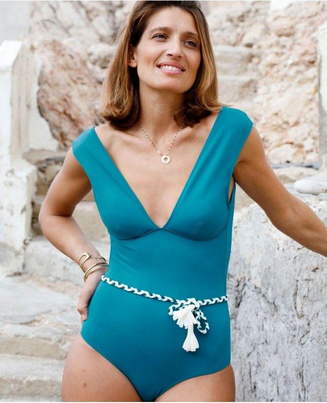 Maillot anti-UV femme PALERMA vert Bari de Canopea