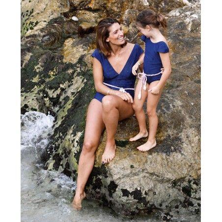 Maillot anti-UV femme PALERMA bleu Blueberry de Canopea
