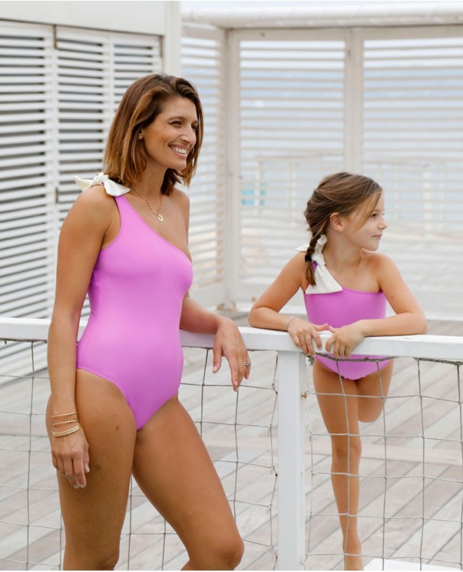 Sun protective swimsuit for women girl children by Canopea