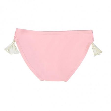 culotte rose avec pompons blancs de chaque coté