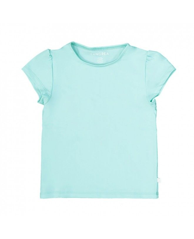 Aqua green sun protective rashguard for girl and baby