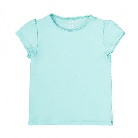 Aqua green sun protective rashguard for girl and baby