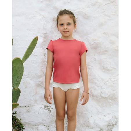 Haut anti UV Canopea rouge Grenada pour fille et bébé