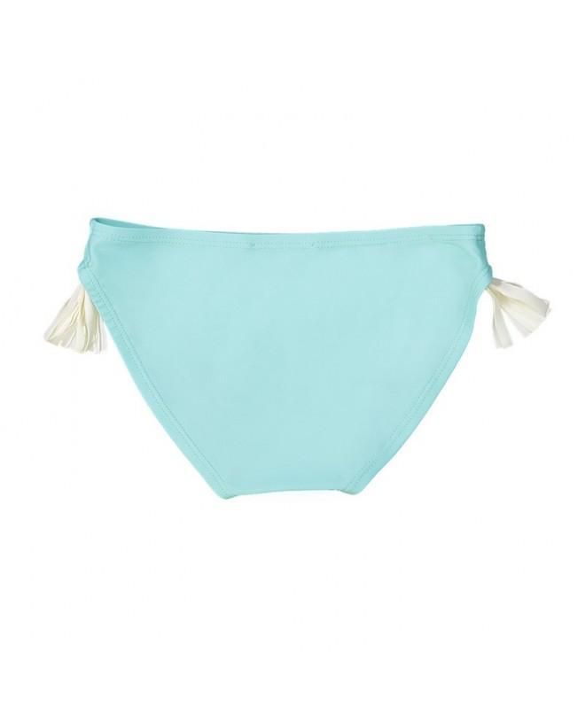 culotte aqua avec pompons blancs de chaque coté