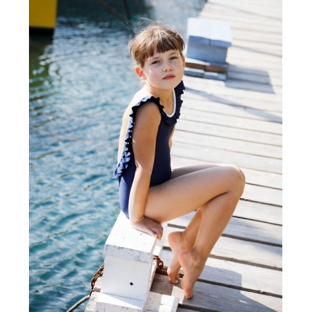 Sun protective swimsuit for girl children and baby by Canopea x Tartine et Chocolat