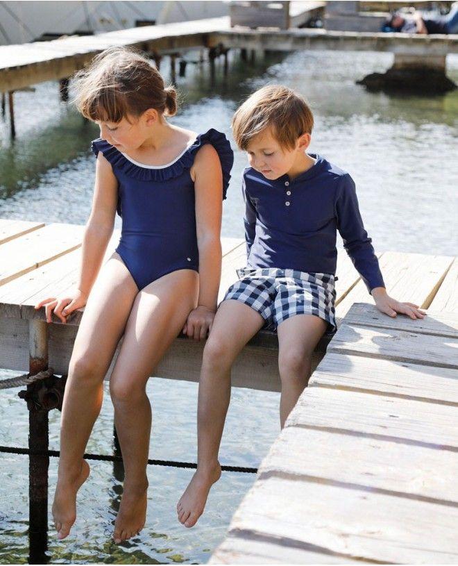 t-shirt anti-UV pour garçon et bébé de Canopea x Tartine et Chocolat
