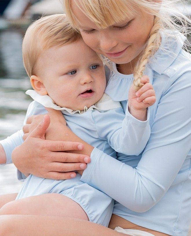 Haut anti-UV fille ou bébé bleu cendré de Canopea