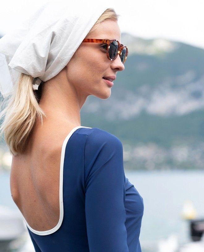 Teeshirt anti-UV femme AUDREY bleu myrtille de Canopea
