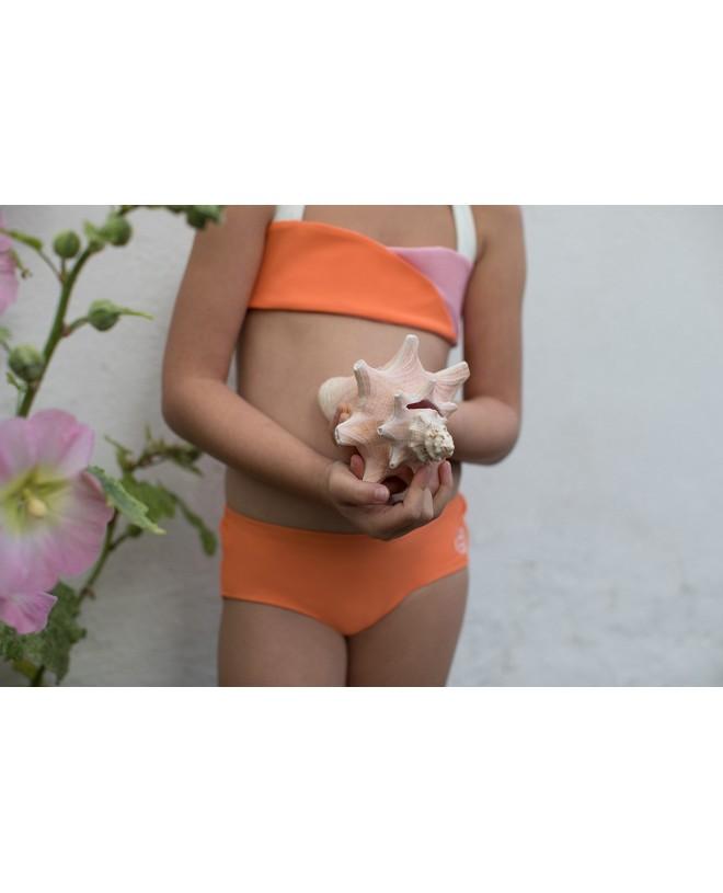 Shorty anti UV abricot pour filles