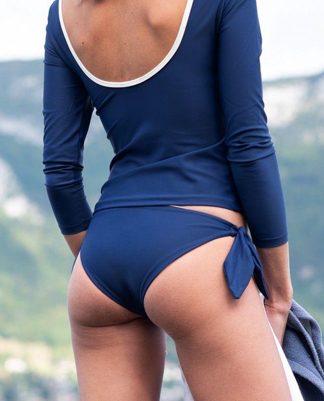 Maillot de bain anti-UV femme GABRIELLE bleu myrtille de Canopea