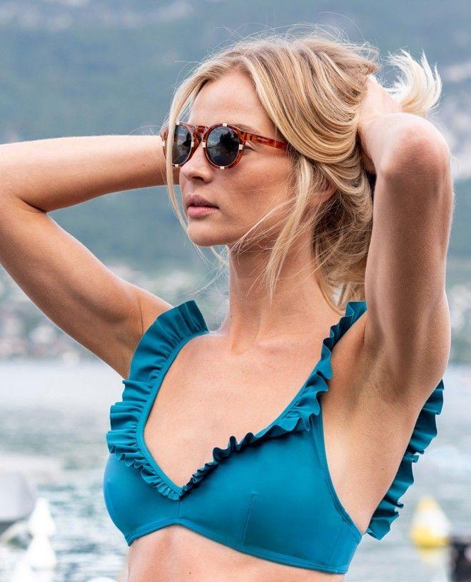 Maillot de bain anti-UV femme DIANE vert bari de Canopea