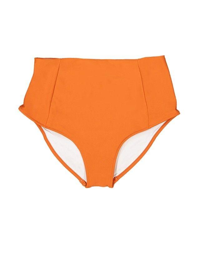 Maillot de bain anti-UV femme LEANDRA orange safran de Canopea