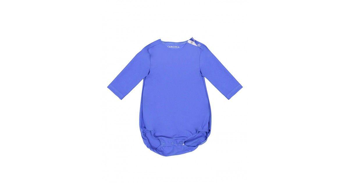 Maillot de bain anti-UV bébé PEYO manches longues couleur bleu indigo de Canopea