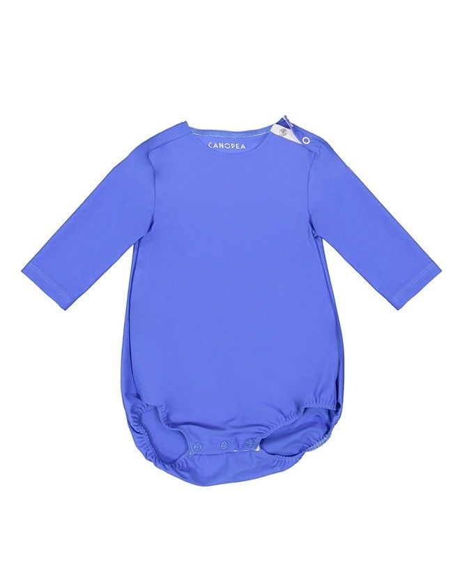 Sun protective swimsuit PEYO for baby in Indigo blue by Canopea