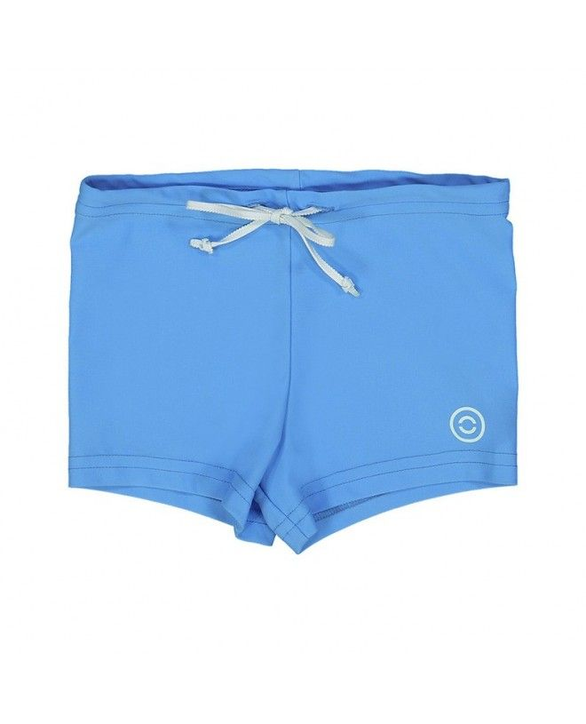 Azure blue swim boxers for boys