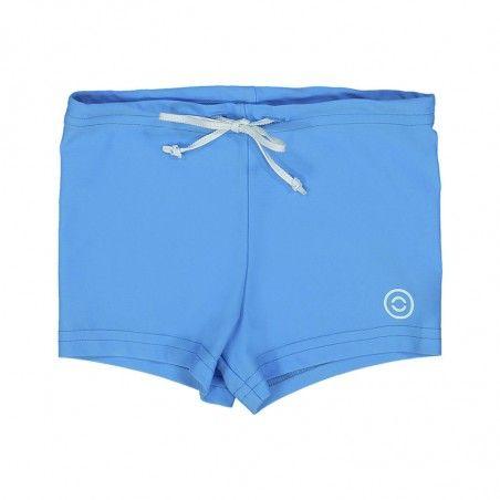 Azure blue swim boxers for boys