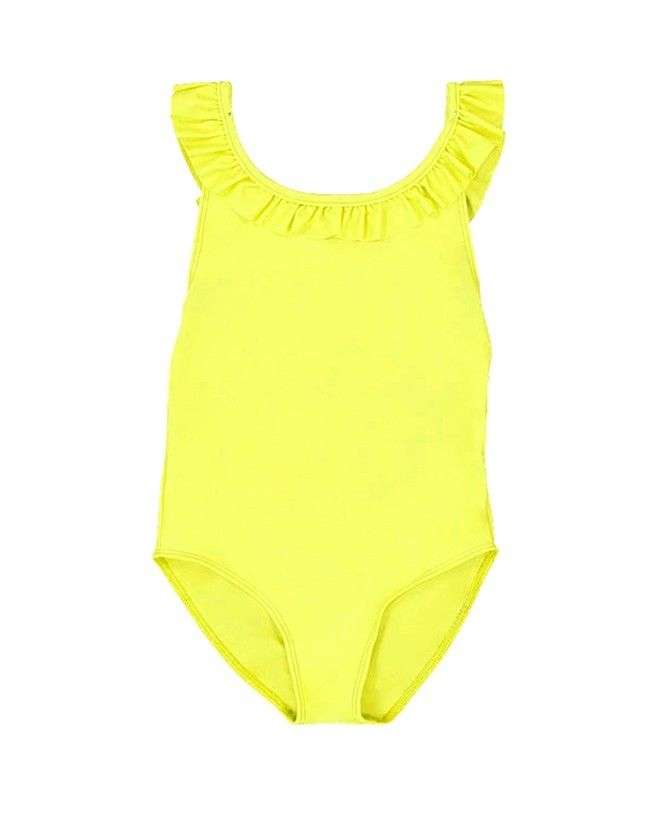 Sun protective swimwear for girls in Limoncello yellow by Canopea