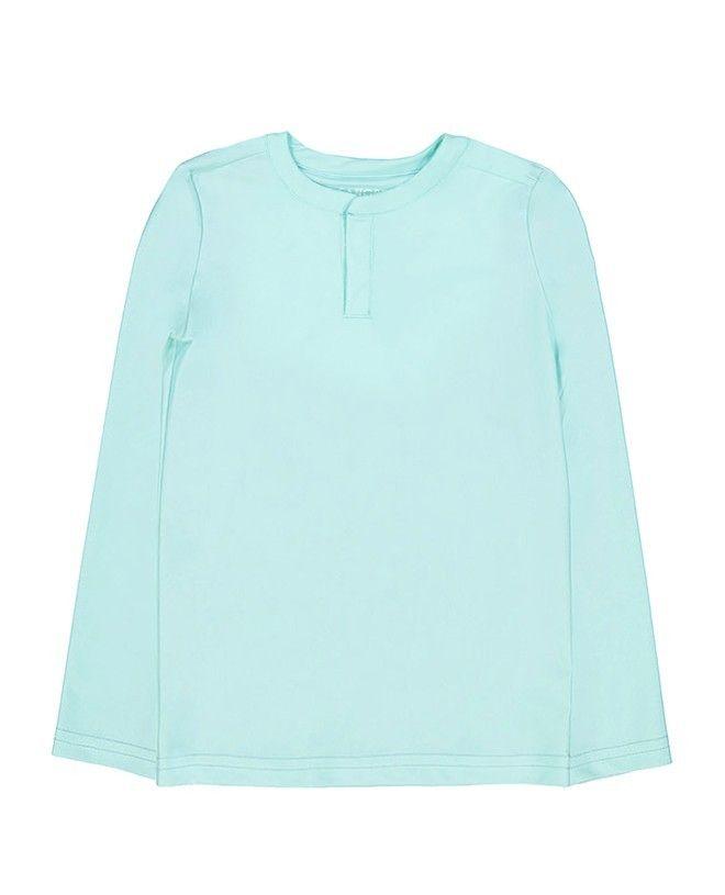 Tee-shirt anti UV vert aqua de Canopea pour garçon, enfant et bébé