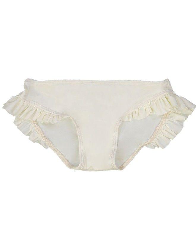 Culotte de maillot de bain anti UV couleur Vanille pour fille