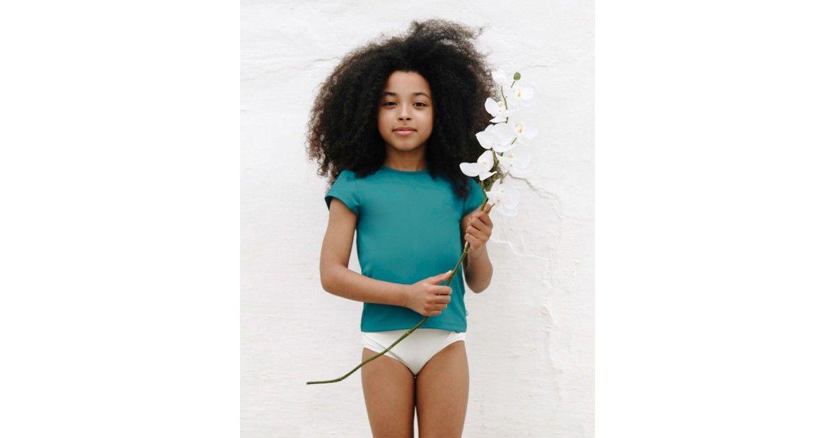 T-shirt anti UV Canopea vert Bari pour fille et bébé
