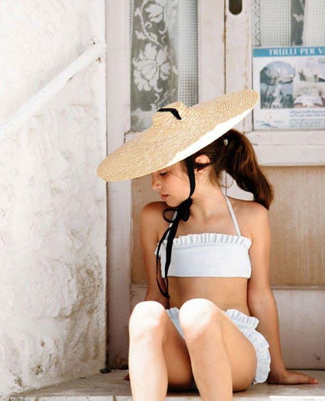 Maillot de bain anti UV couleur bleu Ash pour fille