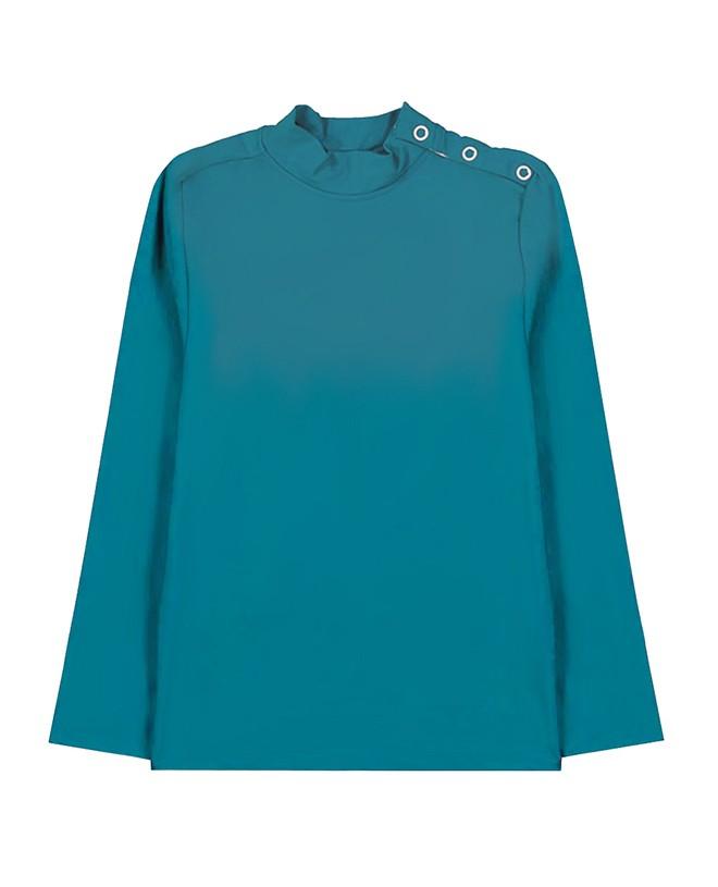 T-shirt anti UV vert Bari de Canopea pour garçon, fille, enfant et bébé