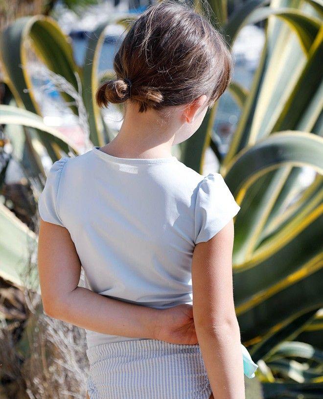 t-shirt anti UV Canopea bleu Ash pour fille et bébé