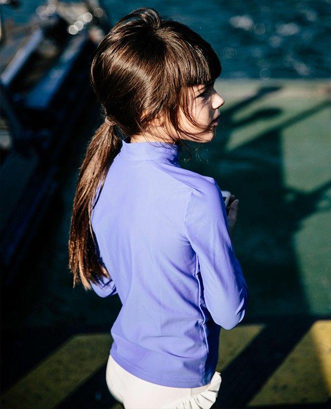 T-shirt anti UV Canopea bleu Indigo pour enfant, garçon, fille et bébé