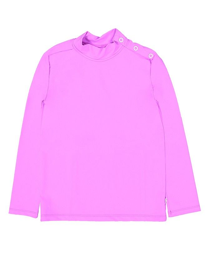 Sun protective rashguard for girls in Orchid pink by Canopea