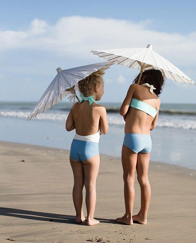 Pink and aqua reversible bikini top with ivory white neck wrap