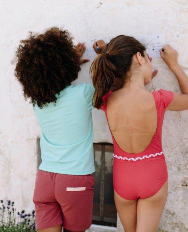 Short maillot de bain garçon CANOPEA rouge Marsala devant