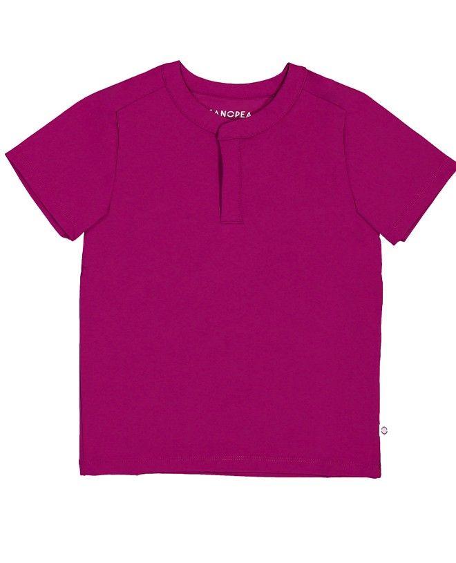 t-shirt anti UV Canopea rouge prune pour garçon et bébe