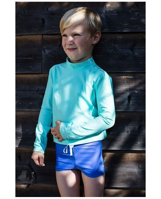 Boxer anti-UV vert bari pour garçon de CANOPEA