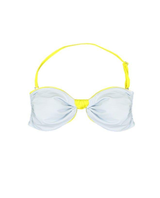 Maillot de bain anti-UV femme LEIA limoncello et bleu cendré de Canopea